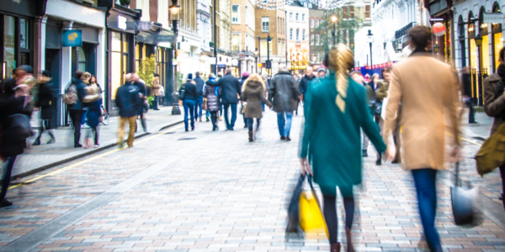 Shopper numbers still almost 30% below pre-pandemic levels